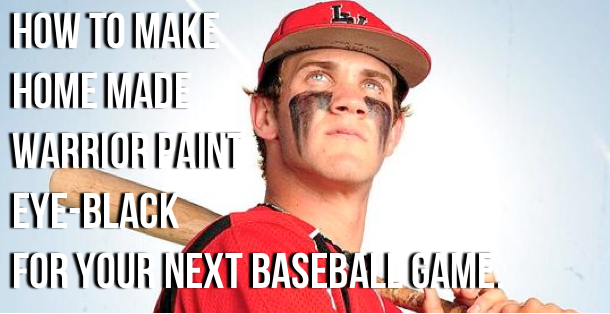 How to make home made warrior paint eye-black for your next ball game.