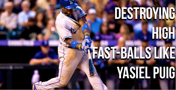 yasiel puig hitting drills, bat speed, analysis