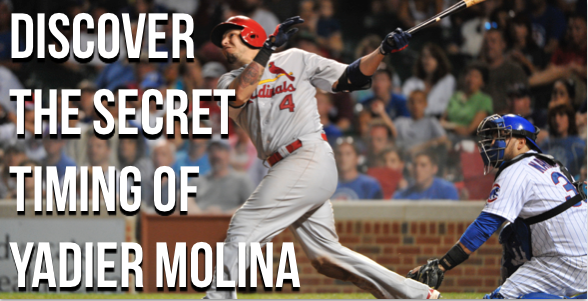 Yadier Molina reveals his hitting secret.