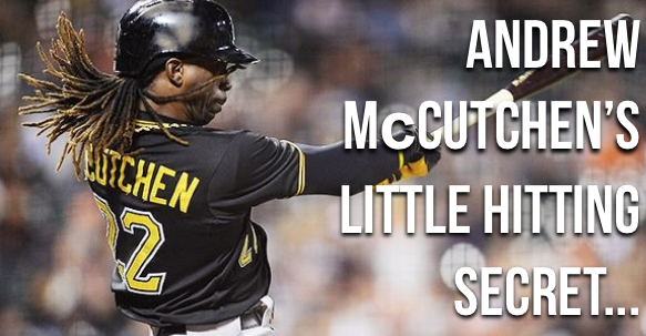 Andrew McCutchen's little hitting secret…